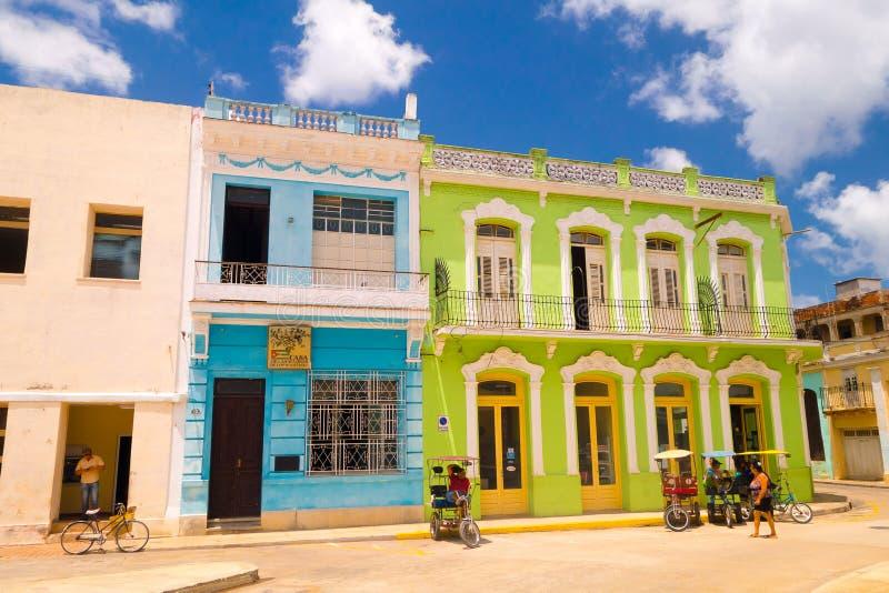 Camaguey Kuba - den gamla staden listade på UNESCOvärlden arkivbilder