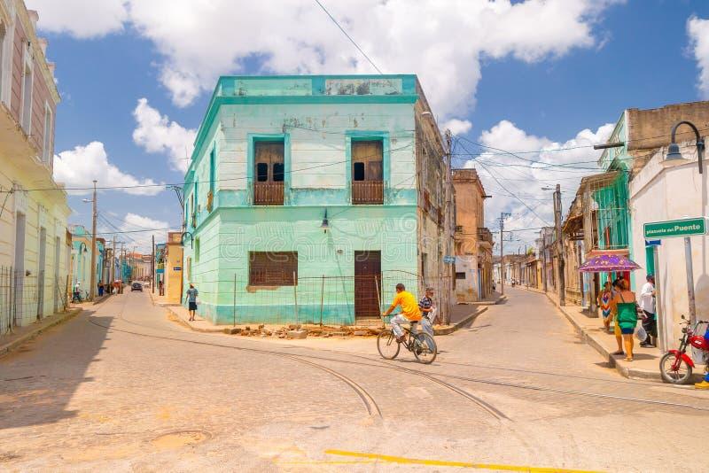 Camaguey Kuba - den gamla staden listade på UNESCOvärlden royaltyfria bilder
