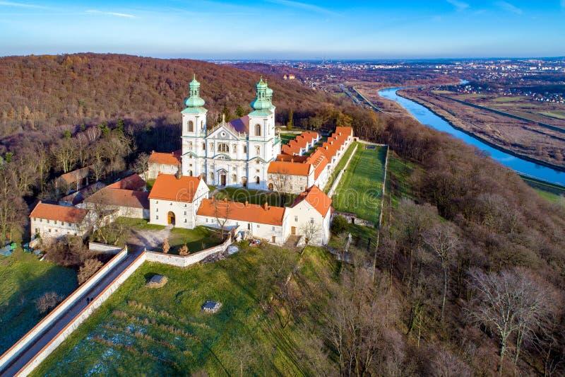 Camaldolese修道院在Bielany,克拉科夫,波兰 图库摄影