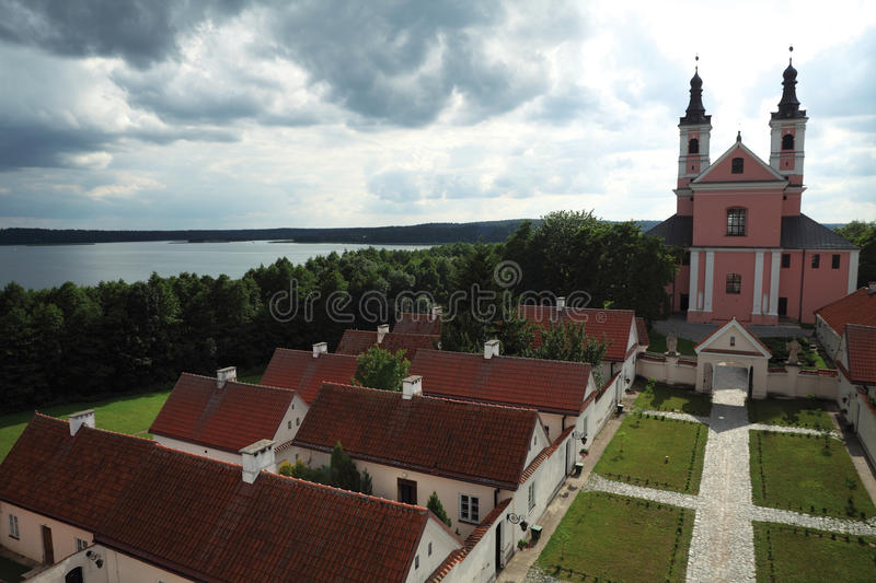 Camaldolian monastery in Wigry stock photography