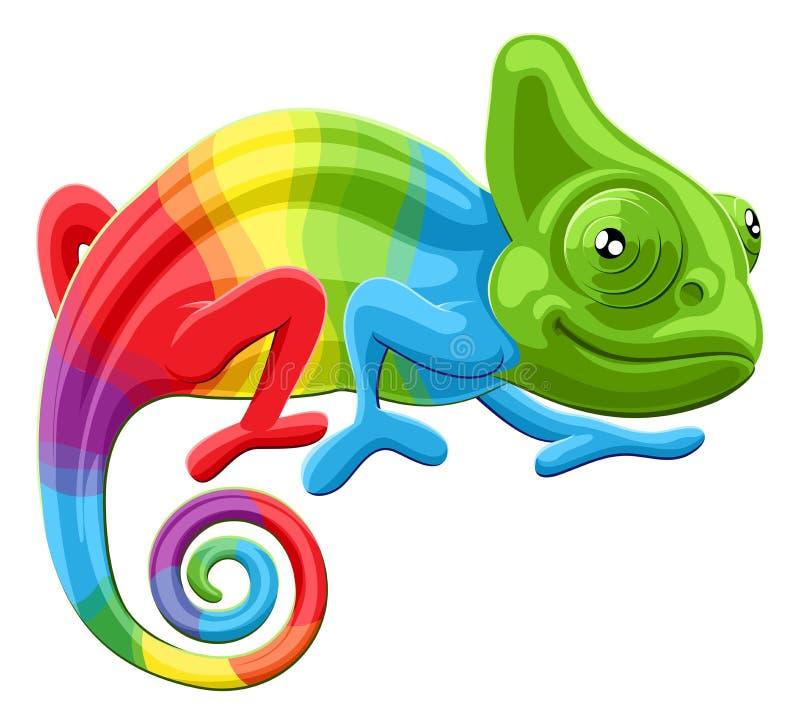 Camaleão do arco-íris ilustração royalty free