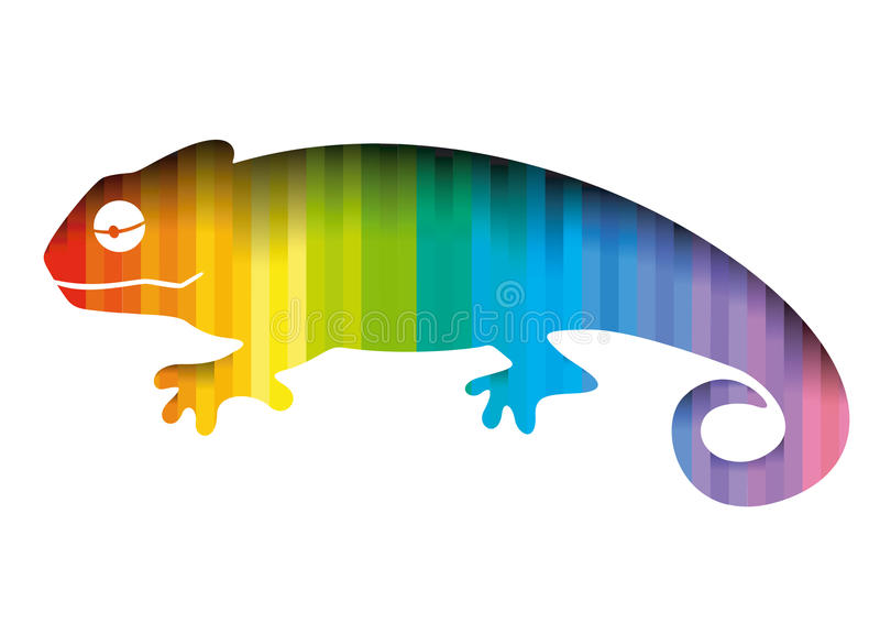 Camaleón stock de ilustración
