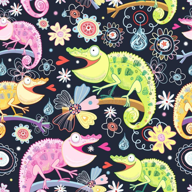Camaleones coloreados textura libre illustration