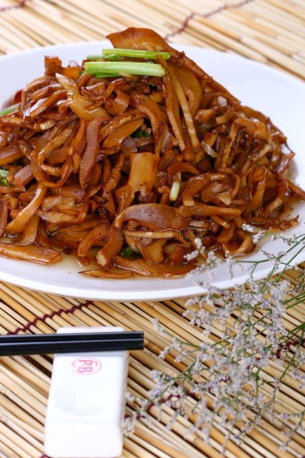 Camarão asiático do alimento da fritada fotos de stock