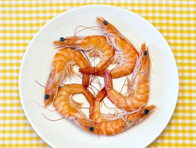 Camarão cozinhado fresco delicioso imagem de stock royalty free
