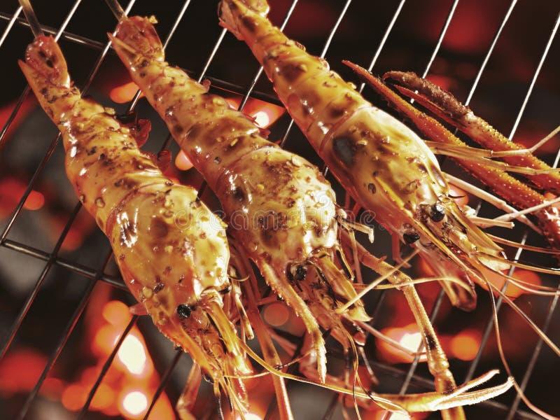Camarão de rio gigante (camarão malaio) grelhado imagem de stock royalty free