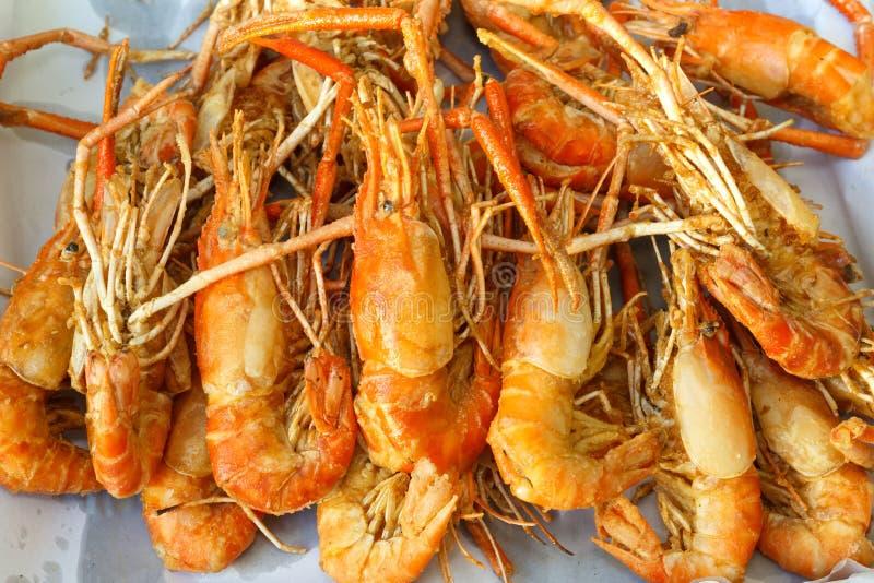 Camarão fritado foto de stock