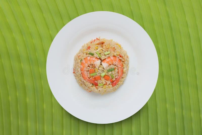 Camarón del arroz frito, cojín Koong de Khao fotografía de archivo