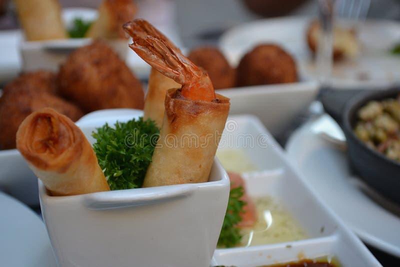 Camarões deliciosos foto de stock royalty free