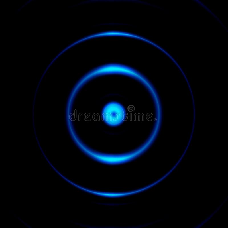 Camara aperture with blue eye effect, abstract background.  royalty free illustration