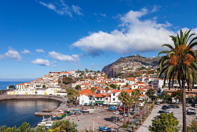 Camara de Lobos. Is a city in the south-central coast of Madeira, Portugal stock image
