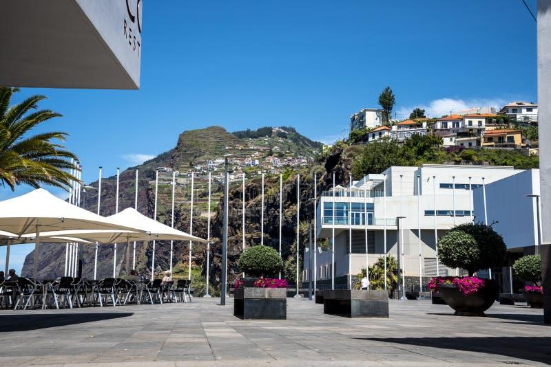 Camara De Lobos jest wioską rybacką blisko miasta Funchal i niektóre wysokie falezy w świacie obrazy stock