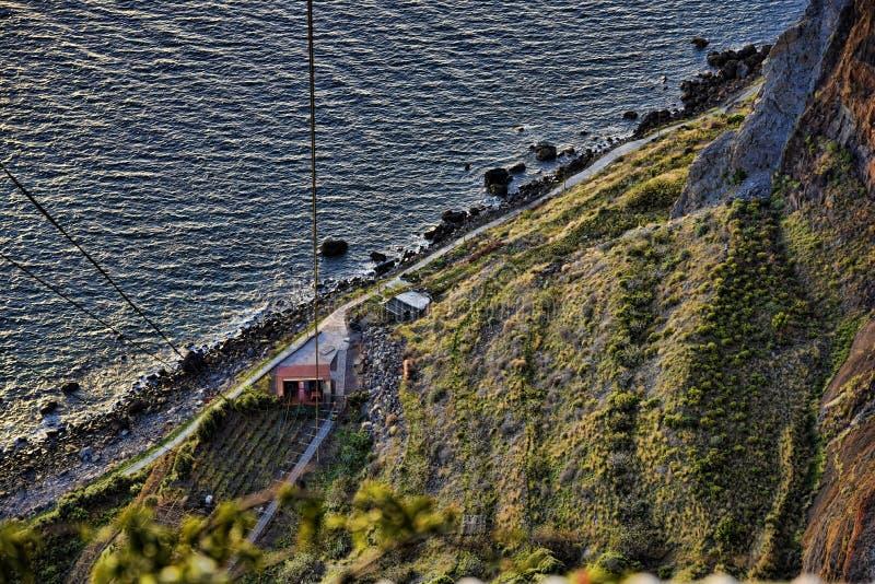 Camara De Lobos jest wioską rybacką blisko miasta Funchal madera która niektóre wysokie falezy w świacie zdjęcia stock