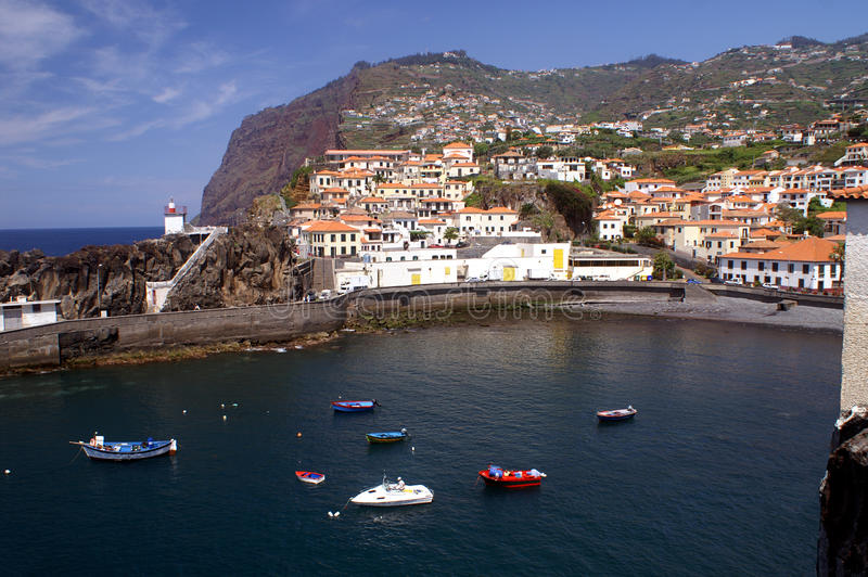 Camara de Lobos, Madeira lizenzfreie stockbilder