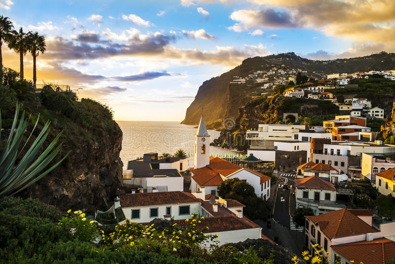 Camara De Lobos, madery wyspa zdjęcia royalty free