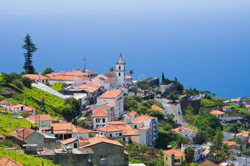 Camara De Lobos, madery wyspa, Portugalia fotografia royalty free