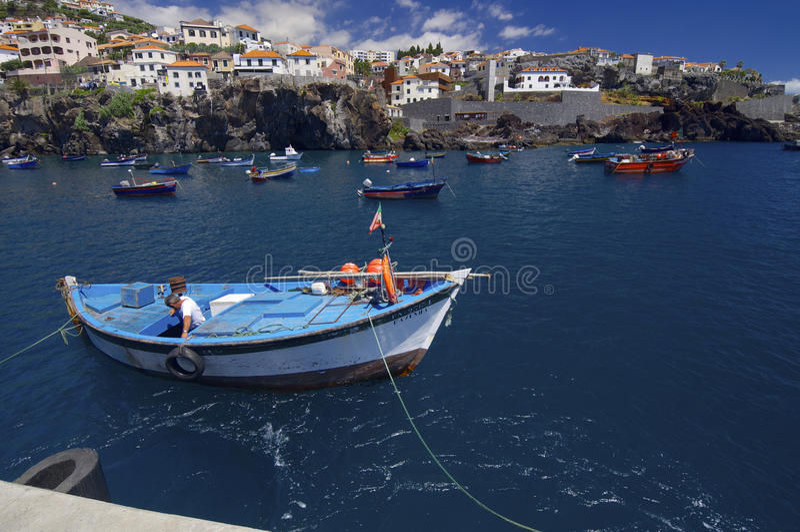 Vissers haven stock fotografie