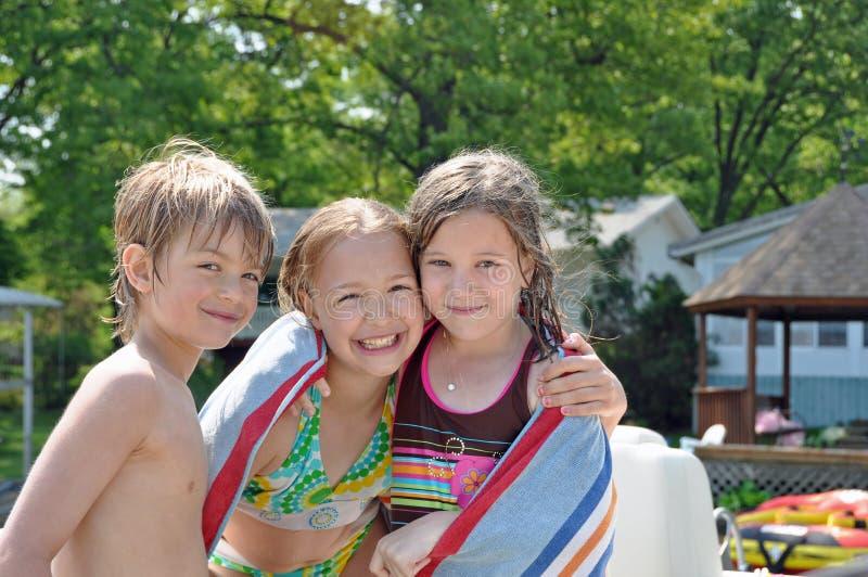 Camaradas 2 da natação foto de stock