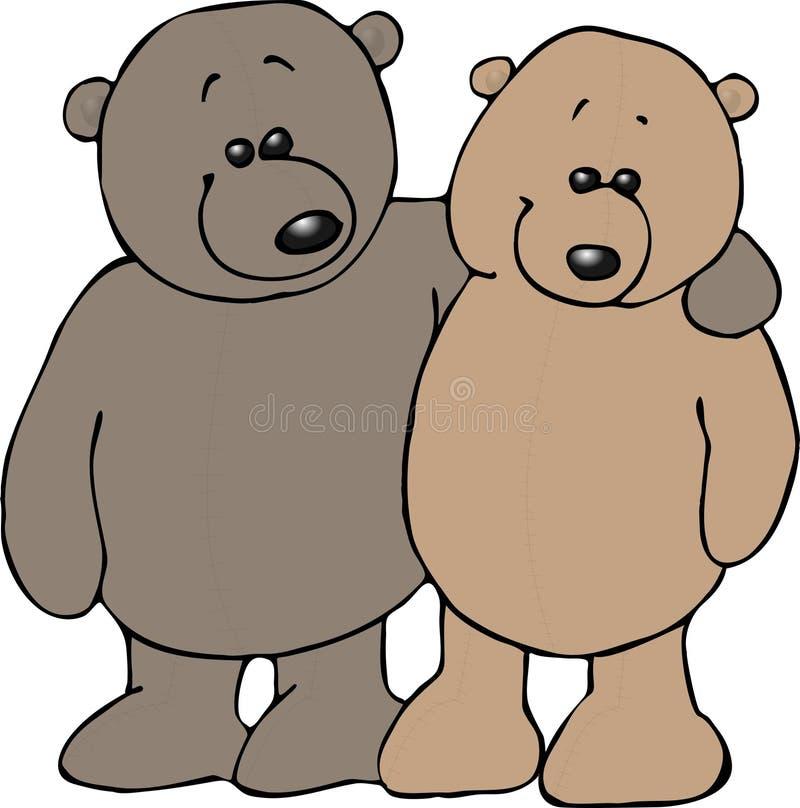 Camaradas do urso da peluche ilustração royalty free