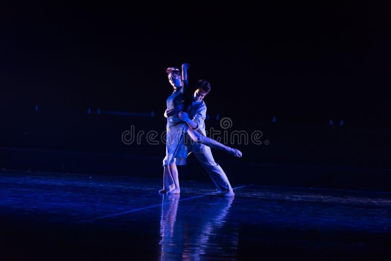 Camarade 6 d'amour--Âne de drame de danse obtenir l'eau image libre de droits