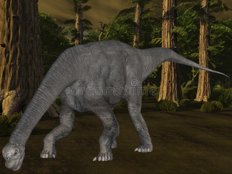 Download Camarasaurus-3D Dinosaur stock illustration. Illustration of animal - 10439076