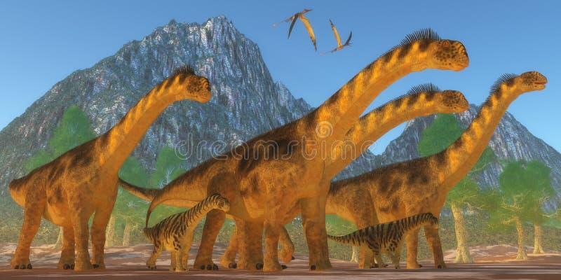 Camarasaurusdinosaurier royaltyfri illustrationer