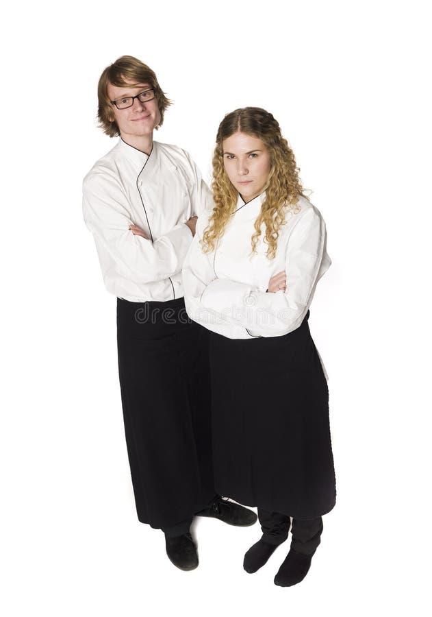 Camarero y camarera foto de archivo libre de regalías