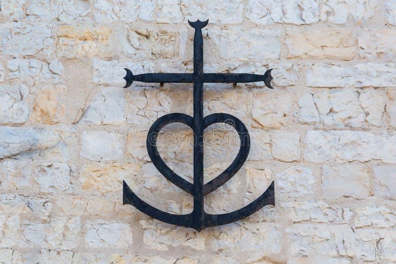 Camargue-Kreuz in Provence, Frankreich stockfotos