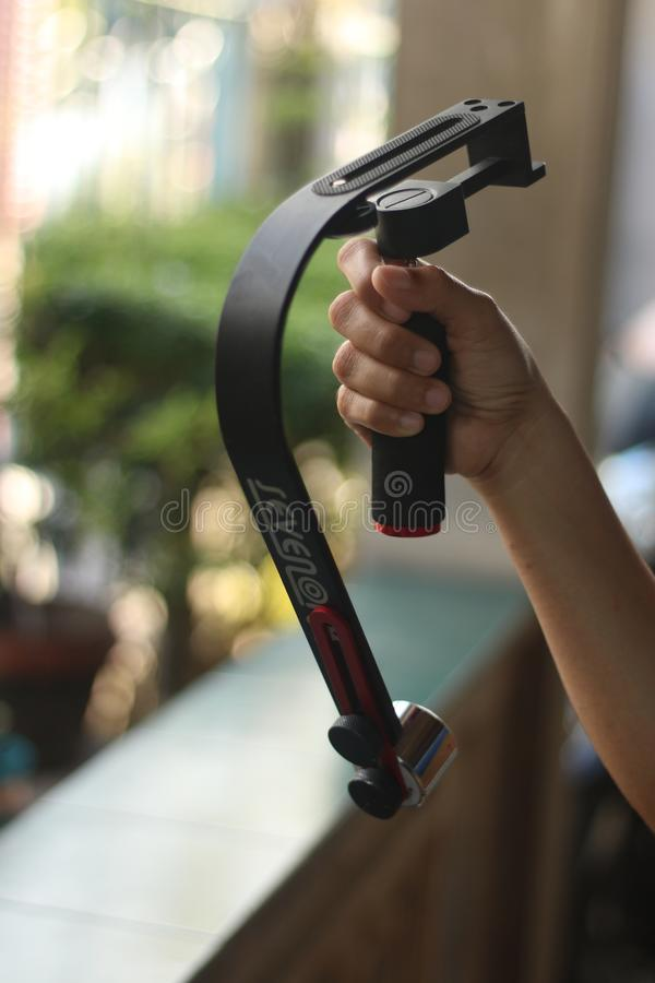 Handheld Video Stabilizer Steady cam stock photography