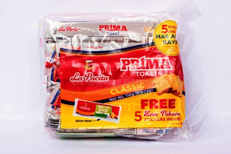 La Pacita Prima Toast. Camarines Sur, PHILIPPINES - JAN. 31, 2017. A close-up photo of La Pacita Prima Toast by La Pacita from the Philippines royalty free stock photo