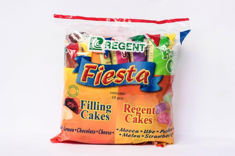 Regent Fiesta Cupcakes. Camarines Sur, PHILIPPINES - JAN. 27, 2017. A close up photo of Regent Fiesta Cupcakes in the  Philippines stock images