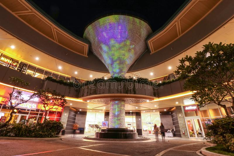 Digital art installation at Robinsons Place Naga. CAMARINES SUR / PHILIPPINES - JUNE 15, 2019: Tree of Life, a 15-meter digital art installation featuring the stock images