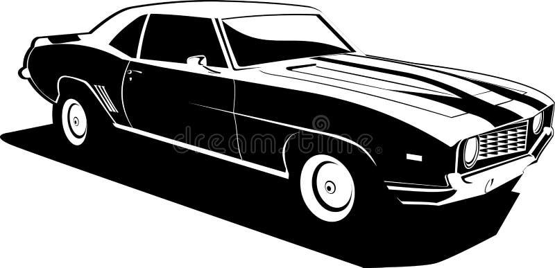 Camaro noir et blanc