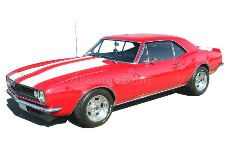 Camaro rouge Chev d'isolement photos stock