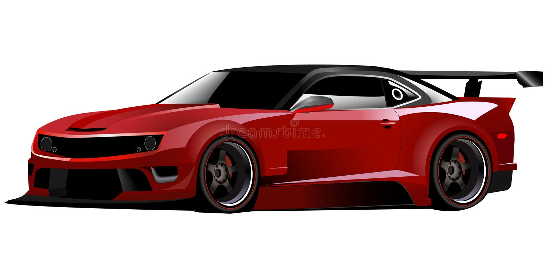 camaro sporty samochodowi czerwoni royalty ilustracja
