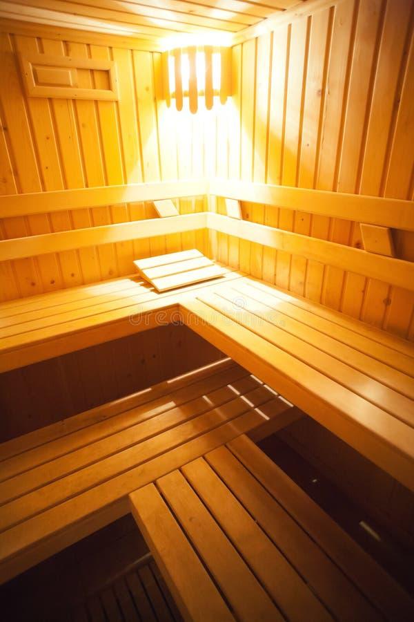 Camas de la sauna fotografía de archivo libre de regalías