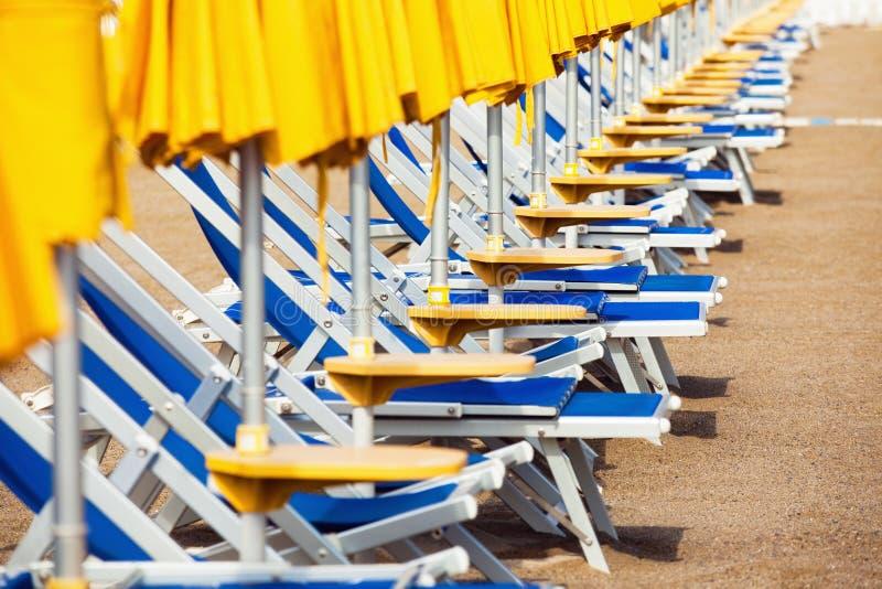 Camas de Sun imagem de stock royalty free