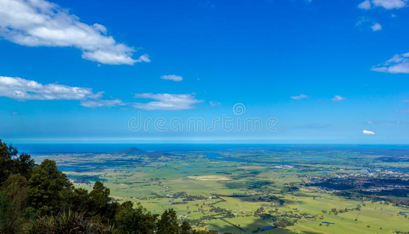 Cambewarra lookout with Berrys Bay and Shoalhaven river in the background royalty free stock photography