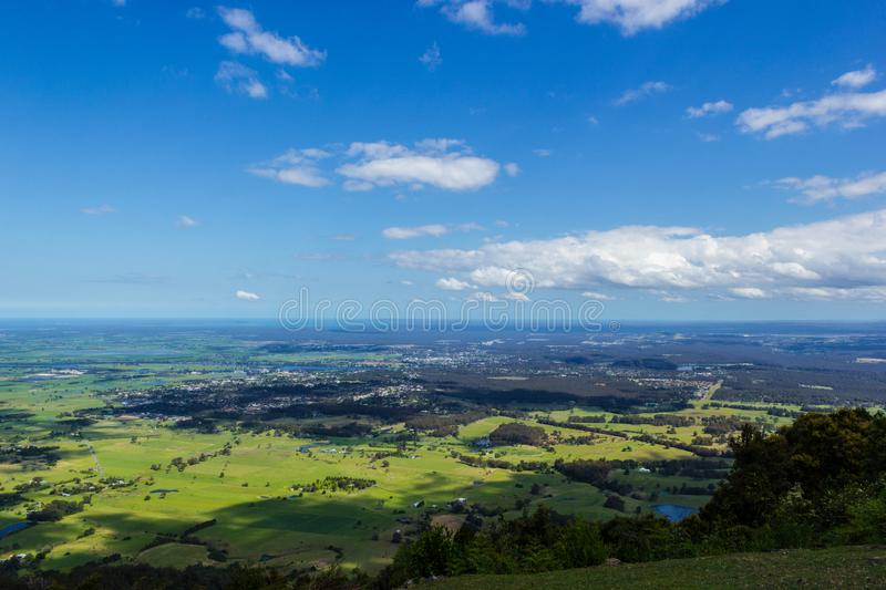 Cambewarra lookout with Berrys Bay and Shoalhaven river in the background stock photos