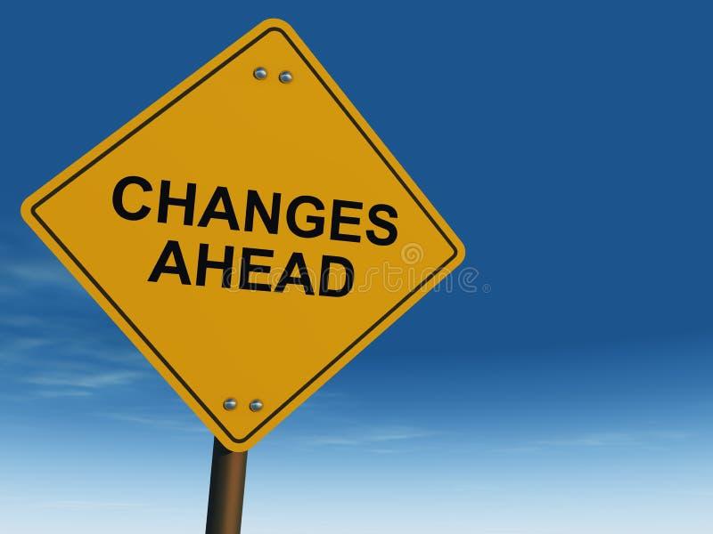 Cambi avanti il segnale stradale illustrazione vettoriale
