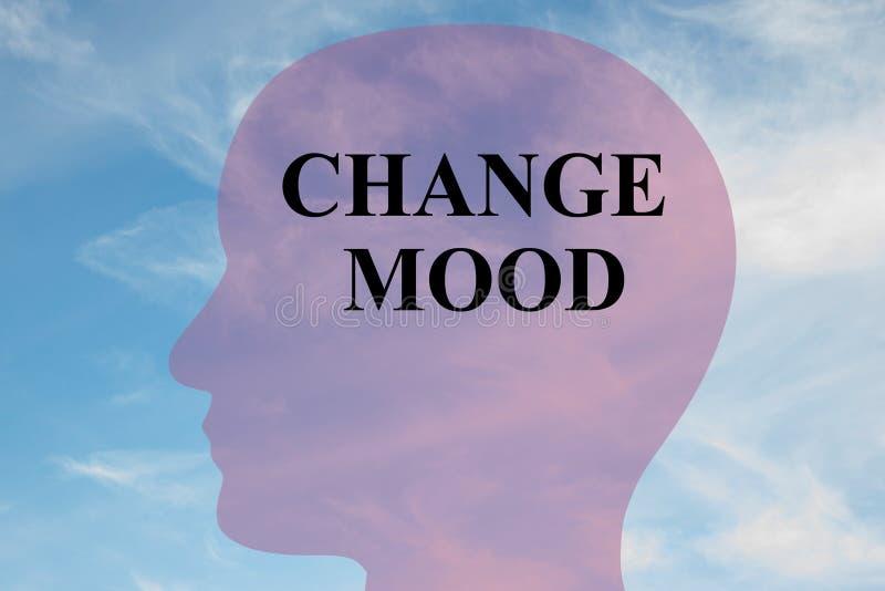 Cambi il concetto dell'umore illustrazione vettoriale