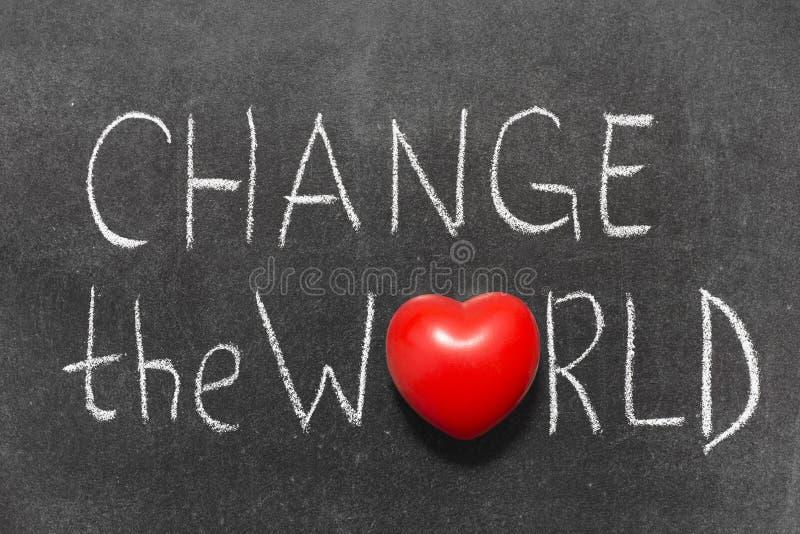 Cambi il mondo immagini stock