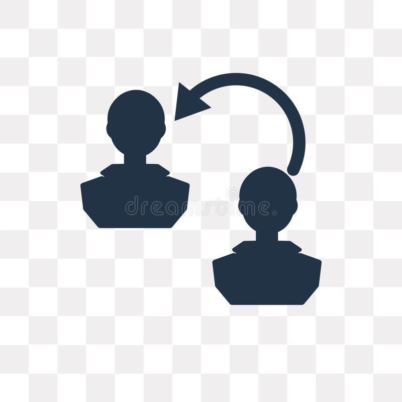 Cambi l'icona personale di vettore isolata su fondo trasparente, illustrazione vettoriale