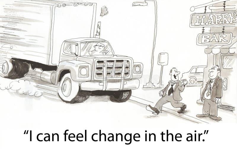 Cambi nell'aria illustrazione vettoriale