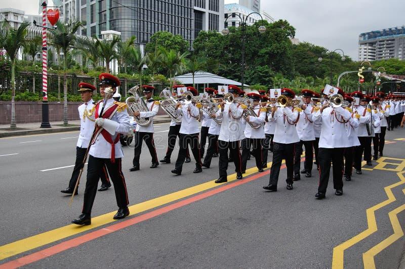 Cambiamento del Presidente di Singapore della parata delle protezioni immagine stock libera da diritti