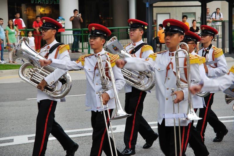 Cambiamento del Presidente di Singapore della parata delle protezioni fotografia stock