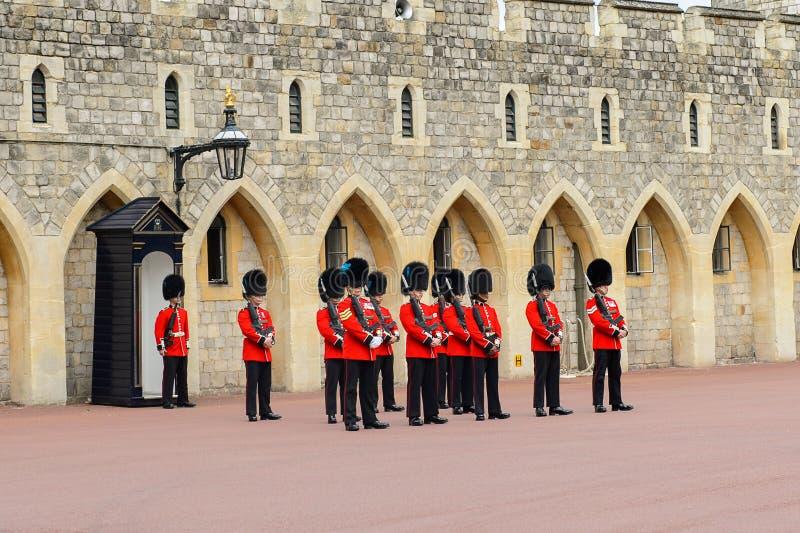 Cambiamento della guardia a Windsor Castle immagine stock