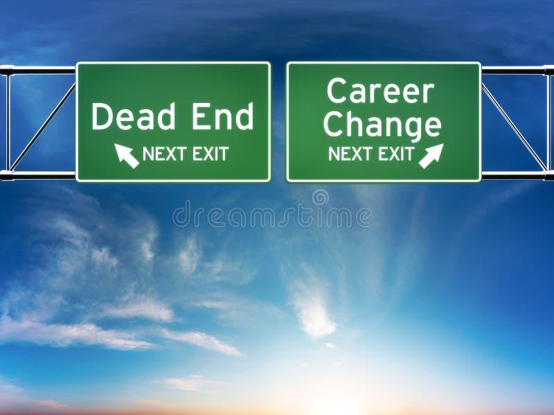 Cambiamento di carriera o concetto di lavoro del vicolo cieco. illustrazione di stock