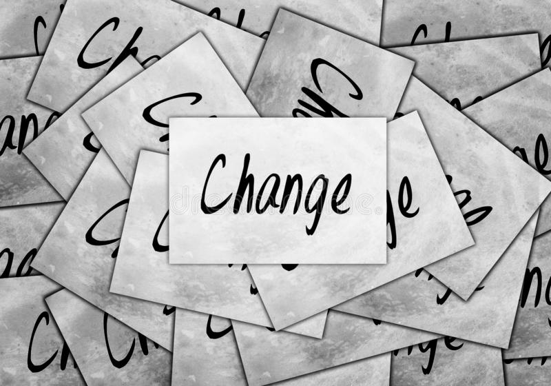 Cambiamento personale, affare trasformare o evolvere concetto illustrazione di stock