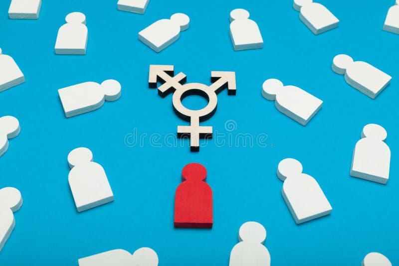 Cambie de sexo el símbolo, concepto del activista Fondo para una tarjeta de la invitaci?n o una enhorabuena fotografía de archivo